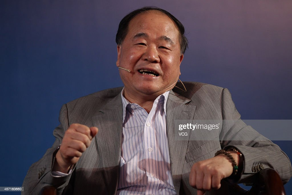 Literature Nobel laureate <a gi-track='captionPersonalityLinkClicked' href=/galleries/search?phrase=Mo+Yan&family=editorial&specificpeople=3971964 ng-click='$event.stopPropagation()'>Mo Yan</a> attends television show 'VOICE' with the theme of 'Dialogue between Literature and Science' on May 15, 2013 in Beijing, China.
