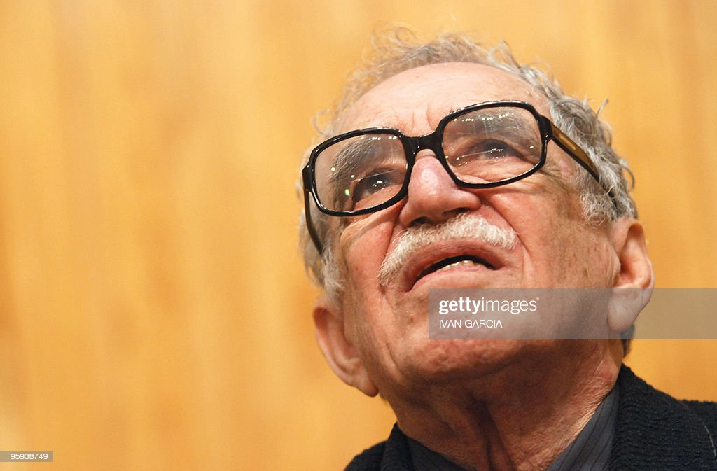 Literature Nobel Price Colombian Gabriel Garcia Marquez takes part in the Chair Julio Cortazar of the University of Guadalajara in Guadalajara Mexico, 23 November 2007. The octogenarian writer, Gabriel Garcia Marquez has been staying 'happy' in Cartagena, the Caribbean city that inspired some of his literary and journalistic, and where his aides dismissed speculation that the Nobel Prize for Literature has had health problems. AFP PHOTO/Ivan Garcia