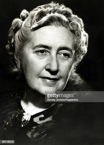 1940's English crime writer Agatha Christie portrait Agatha Christie the world's best known mystery writer famous for her Hercule Poirot and Miss...