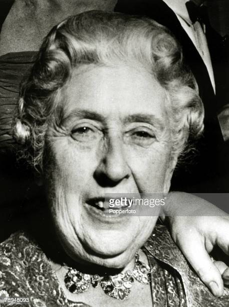 1962 English crime writer Agatha Christie in jovial moodAgatha Christie the world's best known mystery writer famous for her Hercule Poirot and Miss...