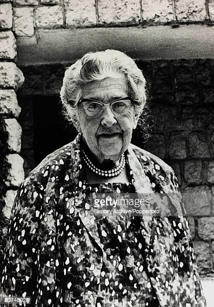 1967 English crime writer Agatha Christie portrait Agatha Christie the world's best known mystery writer famous for her Hercule Poirot and Miss...