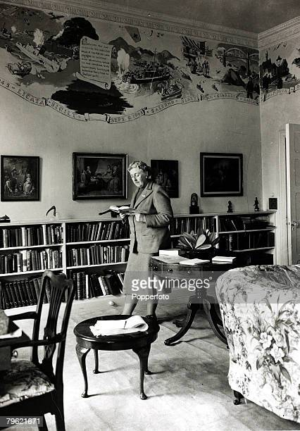 January 1946 English crime writer Agatha Christie pictured at her home Greenway House in DevonAgatha Christie the world's best known mystery writer...
