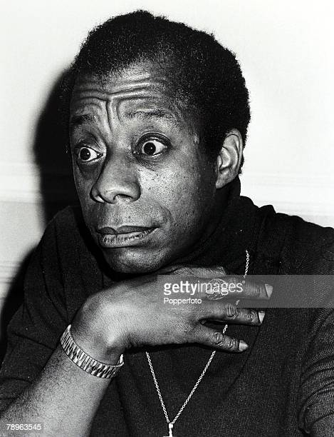 24th August 1971 American author James Baldwin is pictured in London