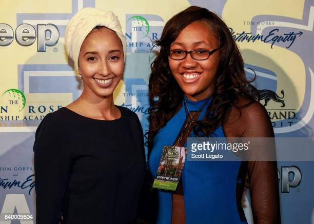 JRLA literature teacher Ms Founas and Bri Johnson attend the 7th Annual Jalen Rose Leadership Academy Celebrity Golf Classic Day 1 at MGM Grand...
