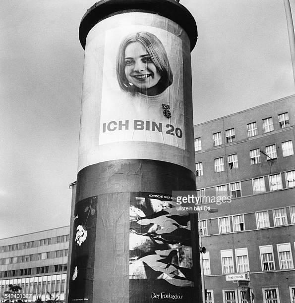 LitfassSäule in OstBerlinum 1970