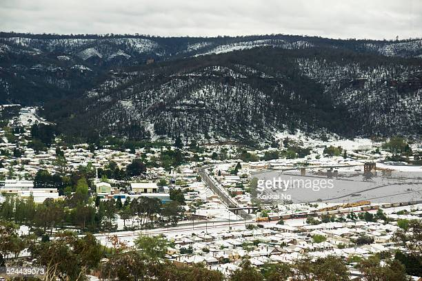 Lithgow in snow