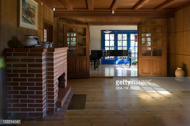 Lithuania Klaipeda Curonian Spit Nida Thomas Manns summer house interior