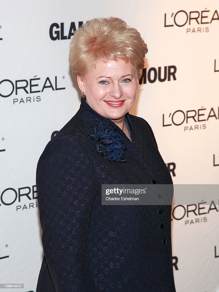 Lithuanian President <a gi-track='captionPersonalityLinkClicked' href=/galleries/search?phrase=Dalia+Grybauskaite&family=editorial&specificpeople=654850 ng-click='$event.stopPropagation()'>Dalia Grybauskaite</a> attends the 20th Annual Women of the Year awards hosted by Glamour Magazine at Carnegie Hall on November 8, 2010 in New York City.