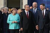 Lithuanian President Dalia Grybauskaite German Chancellor Angela Merkel Turkish President Recep Tayyip Erdogan Albanian Prime Minister Edi Rama and...