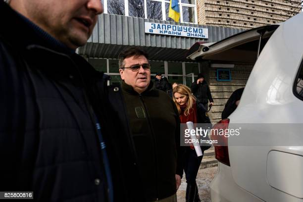 Lithuanias foreign minister Linas Linkevicius visits the frontline town Avdiivka in the Donetsk region He has played a key role in advocating for...