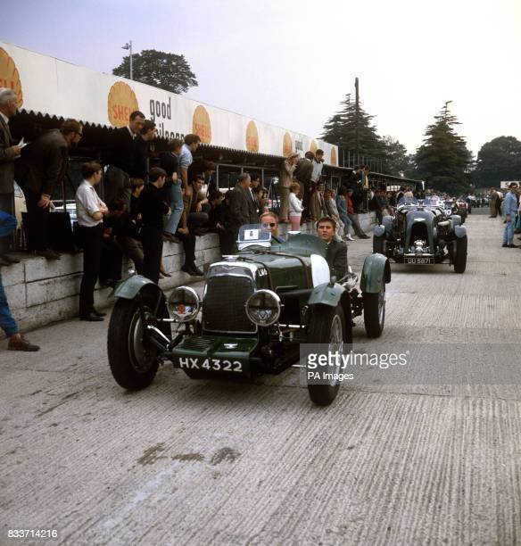 A 15 litre Aston Martin enetred and driven by RF Dudley in a cavalcade of racing cars of all ages on the Crystal Palace circuit It was built in...