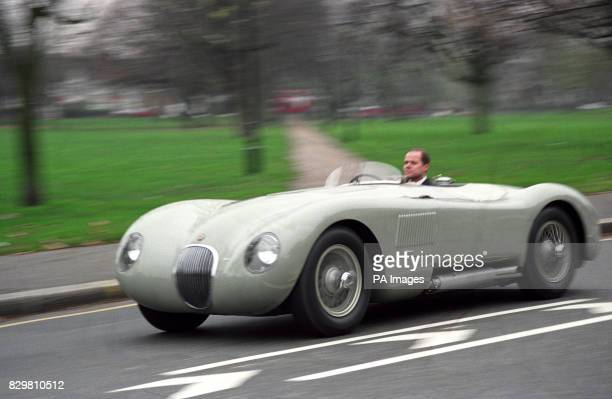 A 1953 34 litre CType Jaguar once raced by Italian Giuseppe 'Nino' Farina The car is expected to fetch 250000 when it comes up for sale at a London...