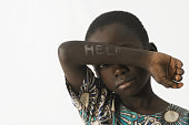Beautiful shot of African ethnicity children taken in a studio in Bamako, Mali.