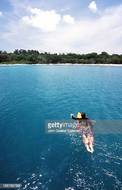 Little Andaman Island, surfer.