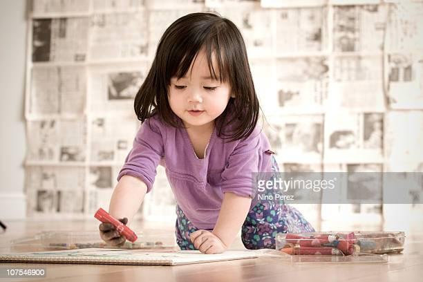 Little artist at work