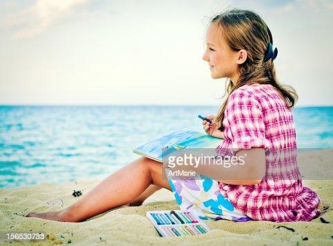 Little artist : Stock Photo
