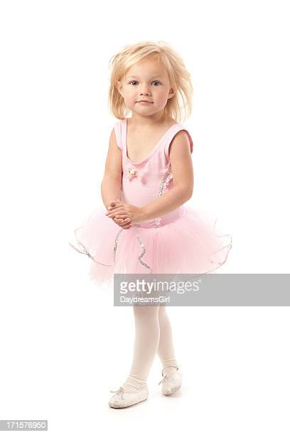 Little Ballerina bailarín Girl Wearing Pink Tutu