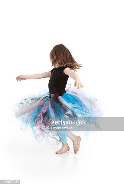 Little Ballerina Girl Dancing and Wearing Tutu