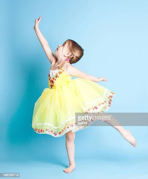 Little Ballerina Showing Arabesque