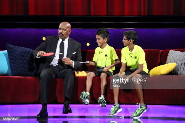 SHOTS 'Little Big News' Episode 211 Pictured Steve Harvey Sid and Nadan