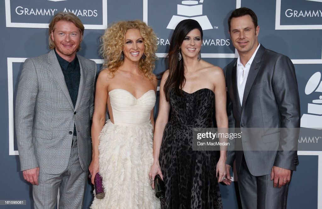 Little Big Town arrives at the 55th Annual Grammy Awards at the Staples Center on February 10, 2013 in Los Angeles, California.