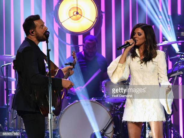 Little Big Town At The Mother Church Jimi Westbrook and Karen Fairchild performs at the Ryman Auditorium on May 19 2017 in Nashville Tennessee Little...