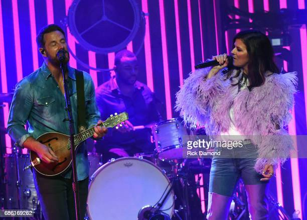 Little Big Town At The Mother Church Jimi Westbrook and Karen Fairchild perform at the Ryman Auditorium on May 20 2017 in Nashville Tennessee Little...