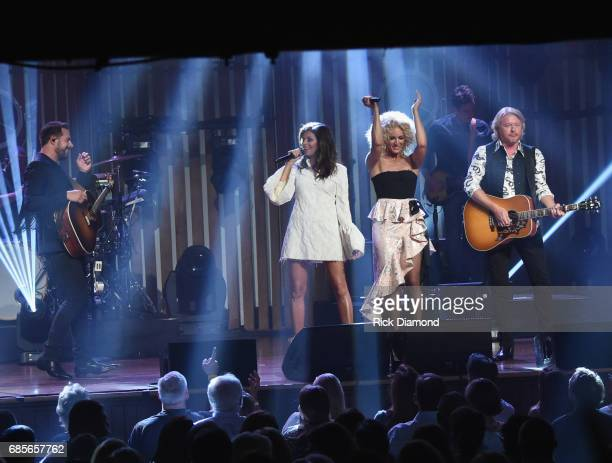 Little Big Town At The Mother Church Jimi Westbrook Karen Fairchild Kimberly Schlapman and Phillip Sweet perform at the Ryman Auditorium on May 19...