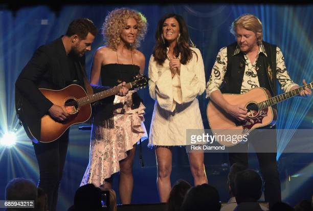 Little Big Town At The Mother Church Jimi Westbrook Kimberly Schlapman Karen Fairchild and Phillip Sweet perform at the Ryman Auditorium on May 19...