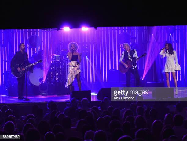 Little Big Town At The Mother Church Jimi Westbrook Kimberly Schlapman Phillip Sweet and Karen Fairchild perform at the Ryman Auditorium on May 19...