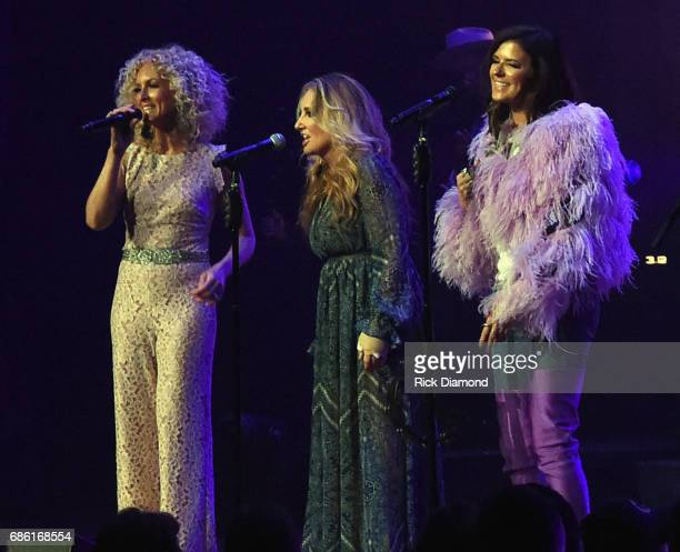 Little Big Town At The Mother Church Special Guest Lee Ann Womack joins Kimberly Schlapman and Karen Fairchild on stage at the Ryman Auditorium on...