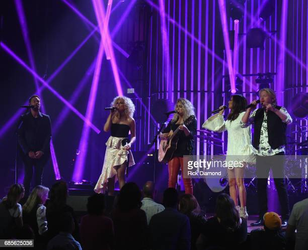 Little Big Town At The Mother Church Surprise guest Tori Kelly joins Jimi Westbrook Kimberly Schlapman Karen Fairchild and Phillip Sweet on stage at...