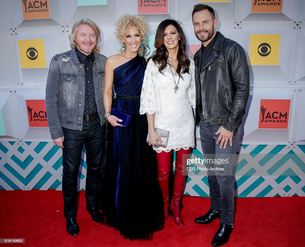 <a gi-track='captionPersonalityLinkClicked' href=/galleries/search?phrase=Little+Big+Town+-+Band&family=editorial&specificpeople=577176 ng-click='$event.stopPropagation()'>Little Big Town</a> on the Red Carpet at the 51st ACADEMY OF COUNTRY MUSIC AWARDS, co-hosted by Luke Bryan and Dierks Bentley from the MGM Grand Garden Arena in Las Vegas, Sunday, April 3, 2016 (live 8:00-11:00 PM, ET/delayed PT) on the CBS Television Network.