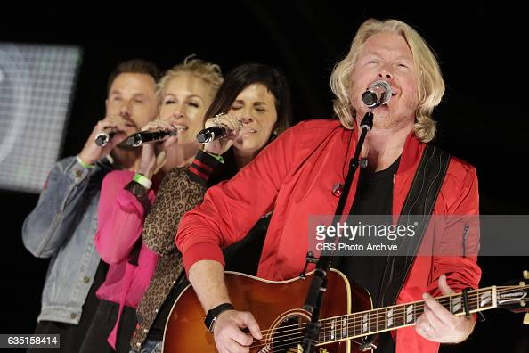 Little Big Town perform during rehearsals for THE 59TH ANNUAL GRAMMY AWARDS scheduled to broadcast live from the STAPLES Center in Los Angeles Sunday...