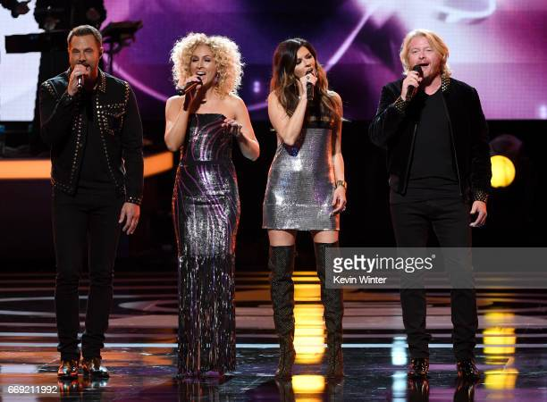Little Big Town performs onstage during 'Stayin' Alive A GRAMMY Salute To The Music Of The Bee Gees' on February 14 2017 in Los Angeles California
