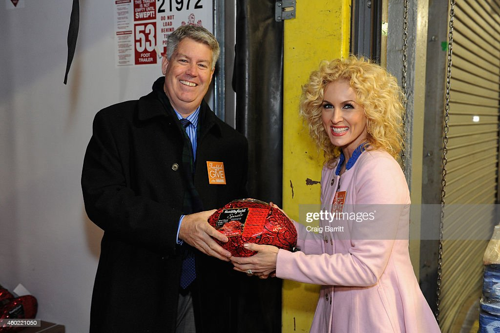 Smithfield Donates 120,000 Servings Of Protein To The Food Bank For New York City With Little Big Town's Kimberly Schlapman As A Part Of Smithfield's Lend A Ham Campaign