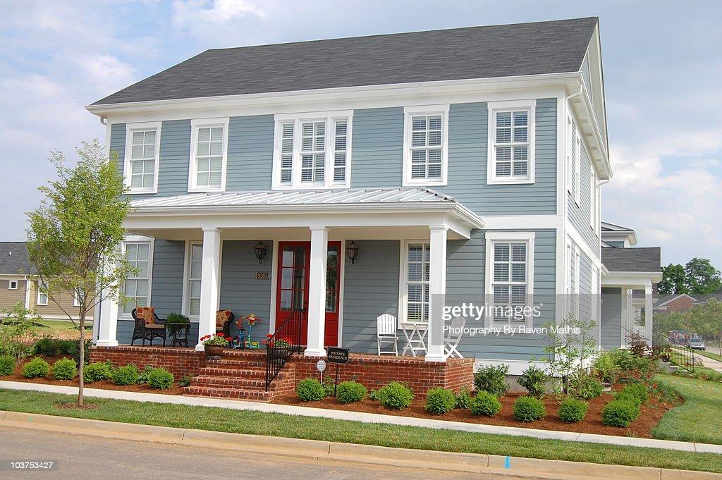 Little Blue House : Stock Photo