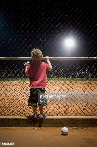 Little boy and a baseball.