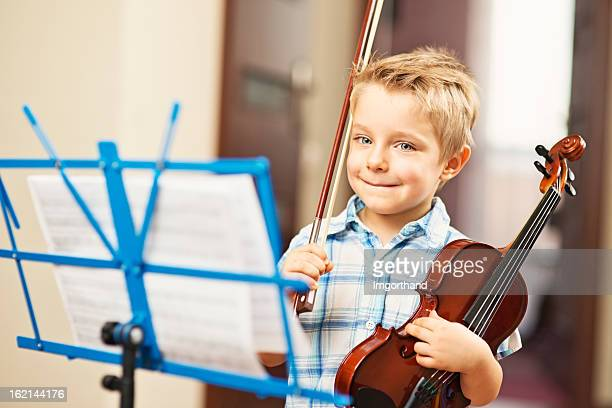 Little boy and a violin