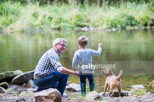 Little boy and his grandad