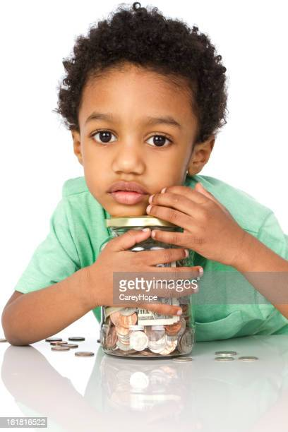 little boy and his savings