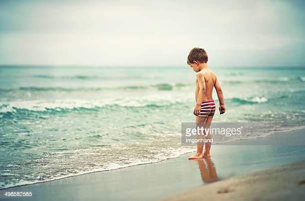 Little boy and the sea
