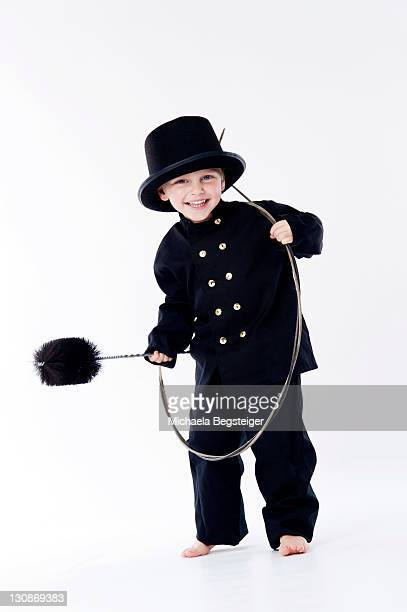 Little boy as chimney sweep