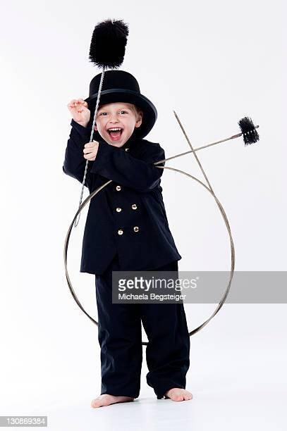 Little boy as chimney sweep