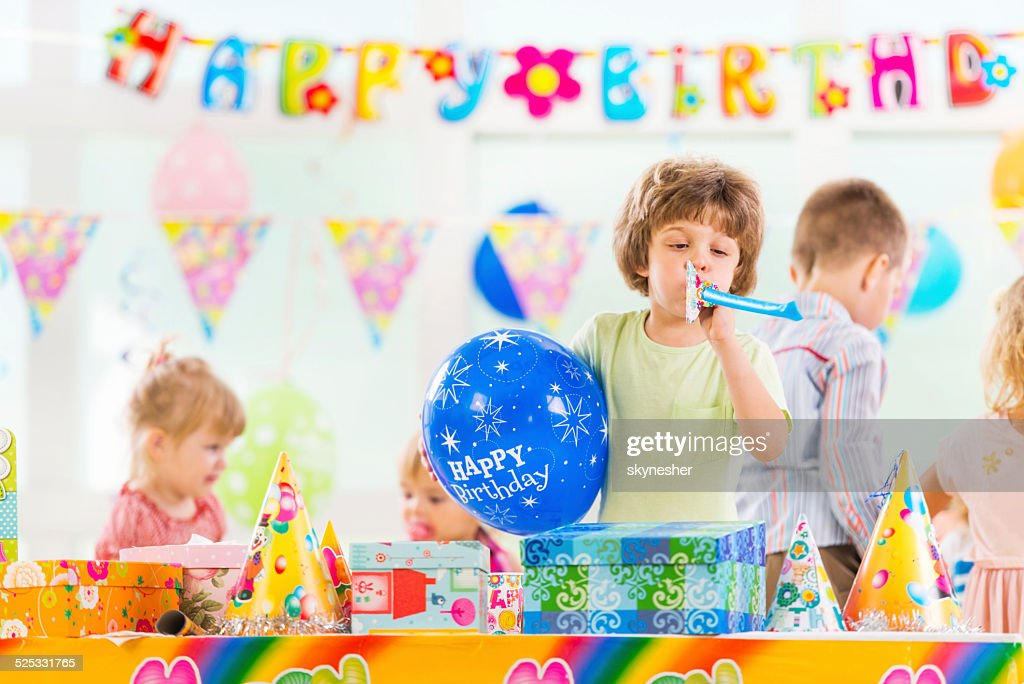 Little boy at Birthday party.