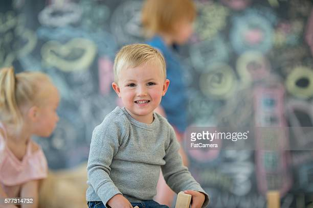 Little Boy at Preschool