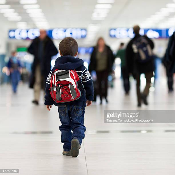 Little boy at the airport