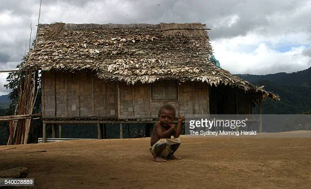 A little boy at the village of Nauro one of the townships on the Kokoda trail Papua New Guinea June 2004 SMH Picture by SANDRA JACKSON