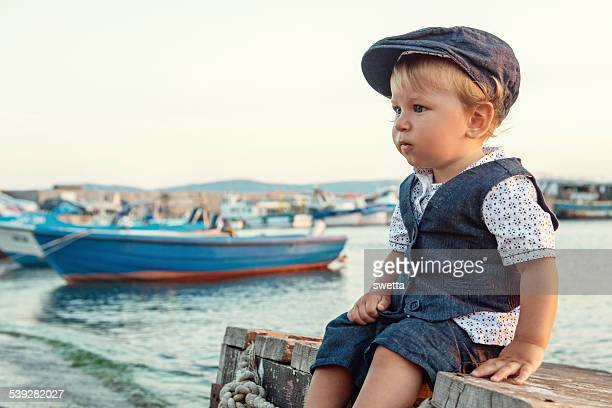 Little boy by the sea