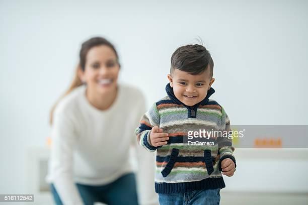Little Boy Getting His Stride